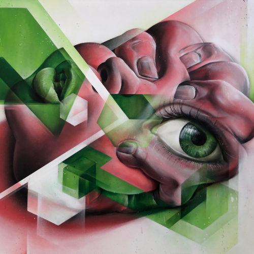 Marcus GOMAD Debie urban art on canvas