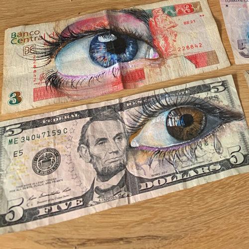 eye art banknote gomad streetart dollar cubanpeso