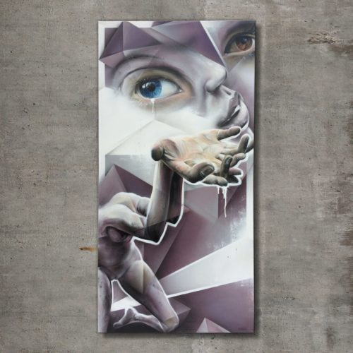 graffiti street art painting Marcus GOMAD Debie for HQ Gallery Denver