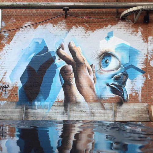 street art mural Marcus GOMAD Debie Antwerpen