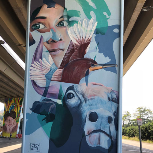Marcus GOMAD Debie wall for Mira Mir festival in Barcelona