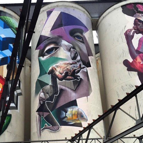live graffiti painting silo kings of colors festival Den Bosch the Netherlands