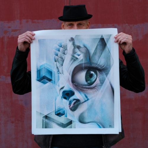 gomad fine art print eye cube