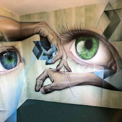 gomad mural street art city france room 72