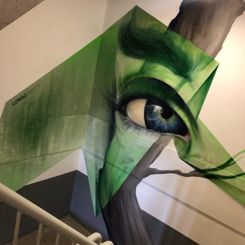 gomad mural staircase hengelo