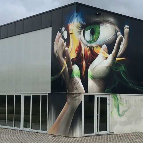 gomad mural on fire tongeren