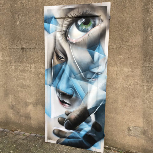 urban fine art eye wooden door roermond