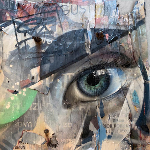 torn paper art urban fine art eye poster art