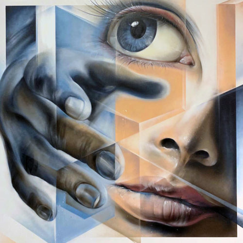 gomad street art on canvas