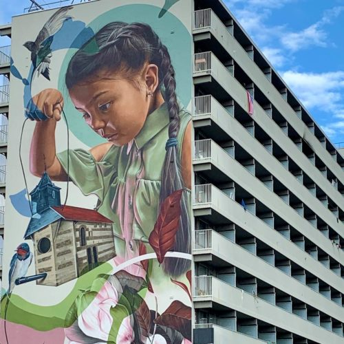 gomad mural muurschildering flat building geleen smug