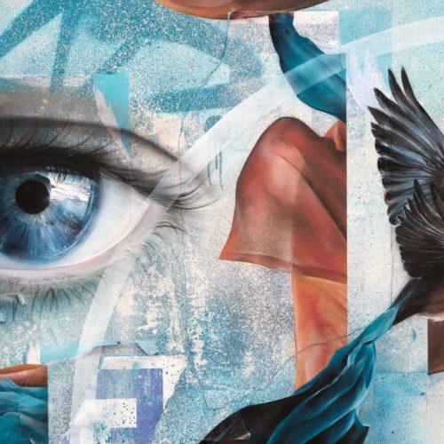 gomad street art oil painting